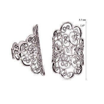 Anelli Long Filigree Band Ring R4163 Yvone Christa