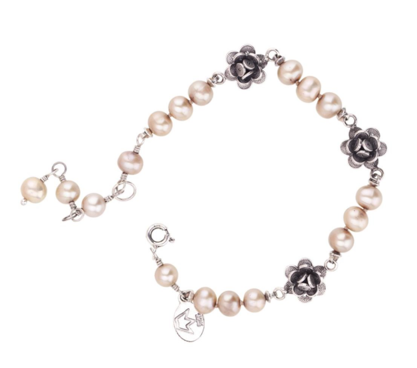 Bracciali Roses On Knotted Pearls Bracelet B4193 Yvone Christa
